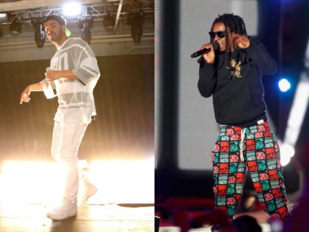 Drake Lil Wayne Getty