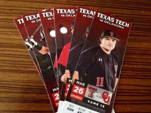 Texas Tech vs Oklahoma State Cowboys baseball tickets