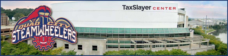 QC Steamwheelers Logo with TaxSlayer Center
