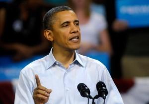 President Barack Obama giving a speech